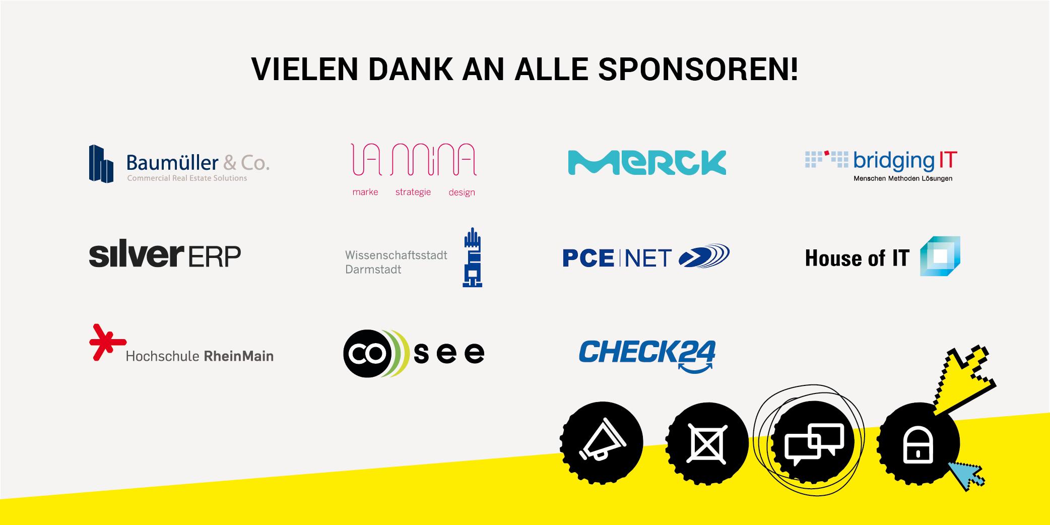 Die Sponsoren des 4. Webmontag